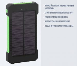 powerbank solare solarcharger