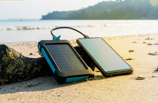 solarcharger power bank solare